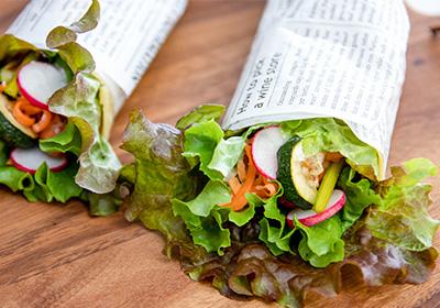 旬の野菜とソーセージのブリトー