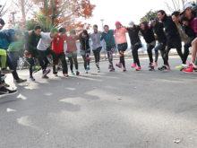 静岡マラソン練習の様子