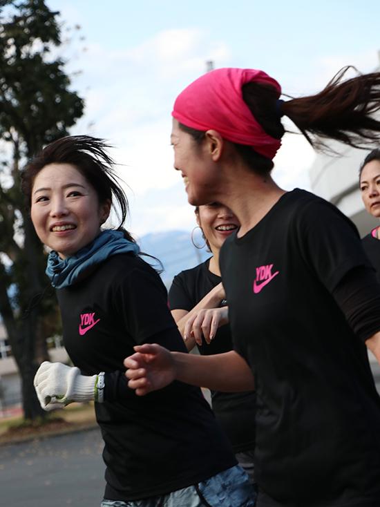 静岡マラソン練習に参加の女性たち