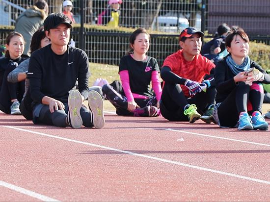 静岡マラソントレーニングの様子
