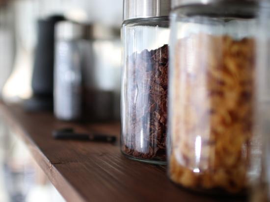 コーヒー道具を置く棚