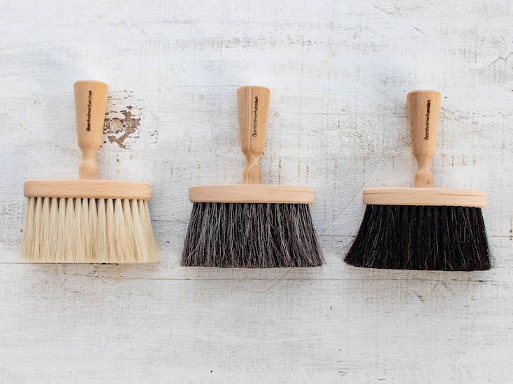 北欧雑貨デンマーク製柔らかい毛のブラシ