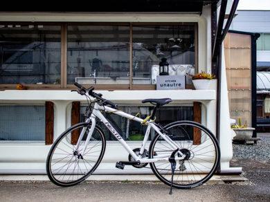 島田市のおしゃれなカフェ「キッチンユノートル」クロスバイク